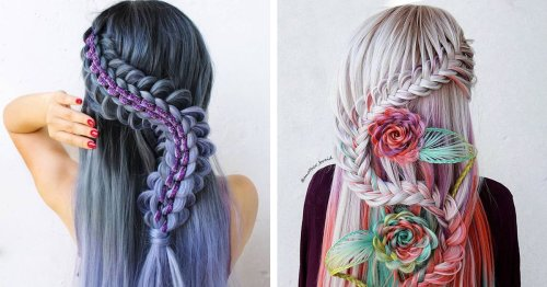 Self-Taught Artist Creates Complex Hairstyles That Look They Belong in a Fantasy Film