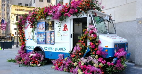 Flowers Are Flowing Out of Ice Cream Trucks in New York