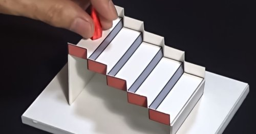 3D Model of Mind-Boggling 'Schröder Staircase' Wins 2020 Best Illusion of the Year Contest