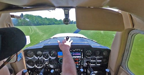 Watch the Nail-Biting Moment a Student Pilot Runs Out of Fuel But Still Safely Lands a Plane