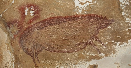 This 45,000-Year-Old Warty Pig Cave Painting May Be the Oldest Known Animal Art Ever Discovered