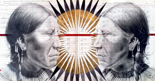 Native American Artist Covers Historical Ledgers With Portraits of Indigenous Peoples [Interview]