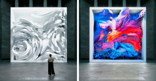 Dynamic Installation Uses AI To Turn 200 Million Nature Images Into Mesmerizing 3D Visual Experience
