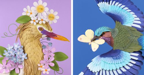 Brilliant Life-Sized Paper Sculptures of Nature's Most Beautiful Birds and Butterflies
