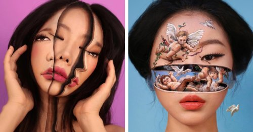Artist Transforms Herself Into Mind-Bending Optical Illusions Without Any Photoshop