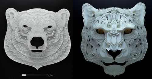 Intricately Cut Paper Portraits of Endangered Animals Around the World