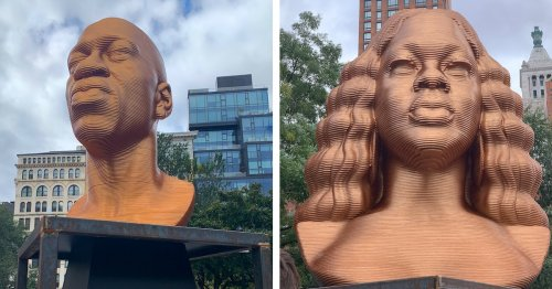 Public Art Installation Honors George Floyd, Breonna Taylor, and John Lewis in NYC's Union Square