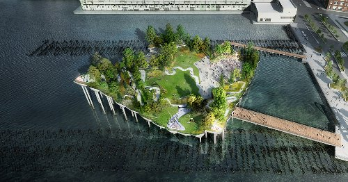 Architects Design 'Little Island' Getaway in NYC To Give City Dwellers a Touch of Nature