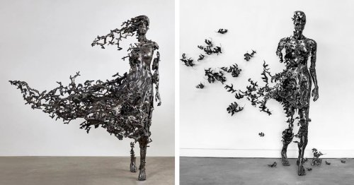 Fragmented Metal Sculptures Capture the Inescapable Ephemerality of Human Life