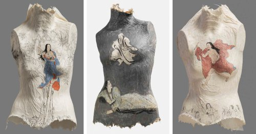 Chinese Artist Covers Paper Torsos in Ancient Paintings to Challenge Traditional Femininity