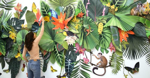 Colorful Installation Invites Viewers to an Immersive Collage of Earth's Biodiversity