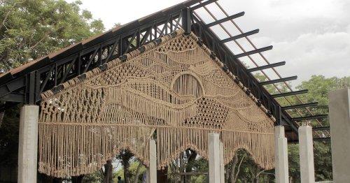 Massive Macramé Installations Drape 37 Feet Across a Beautiful Getaway in Bali