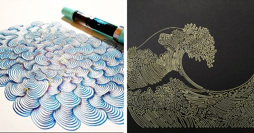 Artist Creates Detailed Line Drawings Without Ever Lifting His Pen From Paper