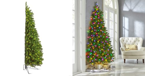 This Half Christmas Tree Is Perfect for Those With Limited Space but Boundless Holiday Cheer