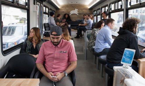 Luxury San Francisco Commuter Bus is a Coffee Shop on Wheels