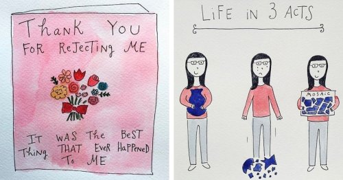 Inspiring Illustrations Visualize the Happiest and Hardest Parts of Life