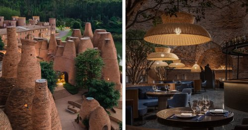 This Intimate Restaurant Is Nestled Within a Cluster of Uniquely Shaped Brick Structures