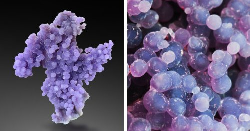 This Rare Crystal From Indonesia Looks Just Like a Cluster of Grapes