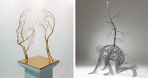 Lyrical Sculptures Imagine the Human Body as a Network of Branches and Twigs
