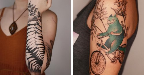 Exquisite Illustrative Tattoos Offer a Surrealist Twist To Plant and Animal Life
