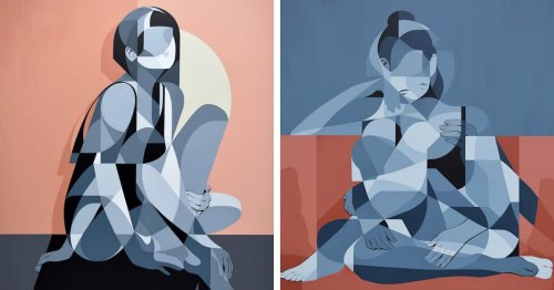 Abstract Figure Paintings Are a Fascinating Fusion of Many Moments Frozen in Time
