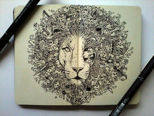 Spectacular Moleskine Doodles Explode with Energy