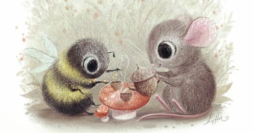 Impossibly Cute Animal Illustrations Tell Sweet Stories of Creatures Large and Small
