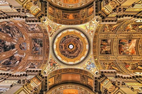 Photographer Captures the Amazingly Ornate Ceilings of Roman Churches on an Architectural Pilgrimage