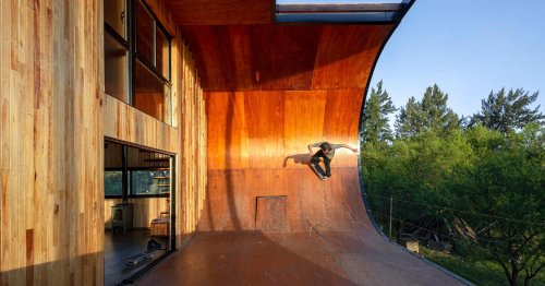 Architect Attached a Giant Skateboard Ramp to a House That Doubles as a Deck