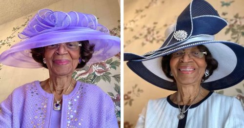 This 82-Year-Old Woman Dresses Up for Virtual Church Services Every Sunday