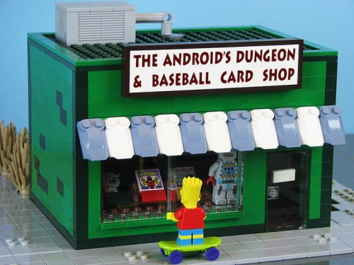 """Springfield from """"The Simpsons"""" Rebuilt Entirely Out of LEGOs"""