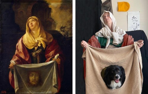 Artist Teams up With Dog to Recreate Famous Paintings