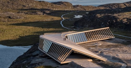 Boomerang-Shaped Research Center Offers Visitors Dramatic Views of the Arctic Landscape
