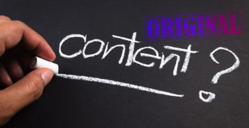 Importance of Original Content