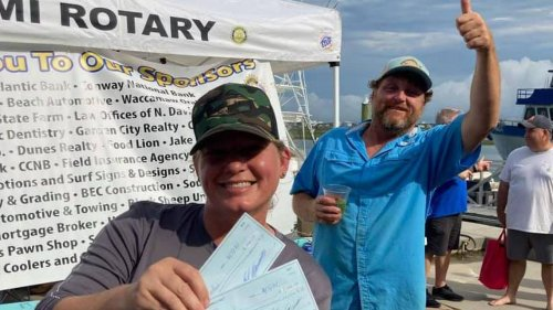 Kelly Baisch defeats 100 anglers in flounder tournament while husband works bait shop