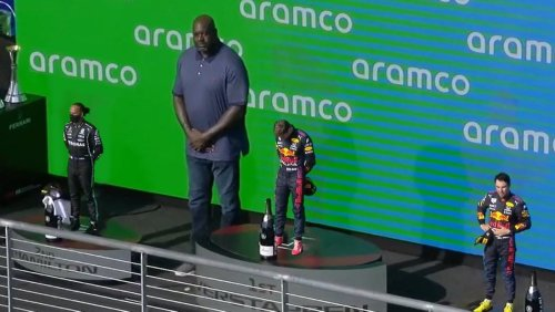 Foto von F1-Podium sorgt für gewaltige Lacher