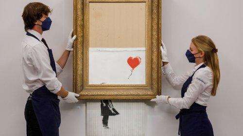 Zerstörter Banksy erzielt bei Sotheby's Rekordsumme