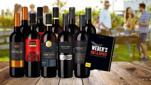 Zum Prime Day: Weinpaket für Grill-Fans mit 53 % Rabatt