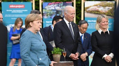 Wolfsbarsch und Vanilleeis: Das ließ Biden der Kanzlerin servieren