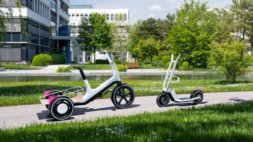 Cargo-Rad und E-Tretroller von BMW