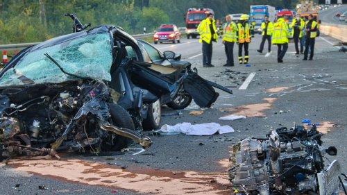 Geisterfahrer verursachte Crash auf A5