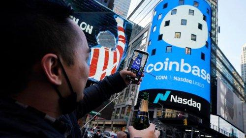 Coinbase boomt an der Wall Street