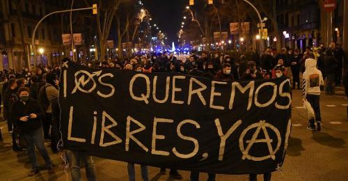 Hunderte Spanier demonstrieren für Freilassung von Rapper Hasel