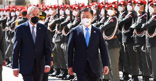 Südkoreas Präsident zu Besuch in Wien: Corona und Klimakrise im Fokus