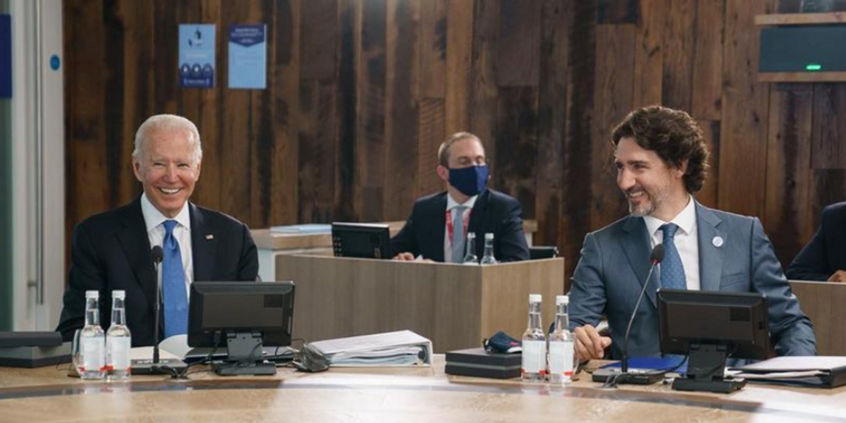 Trudeau & Biden Chatted About Reopening The Canada-US Border During The G7 Summit