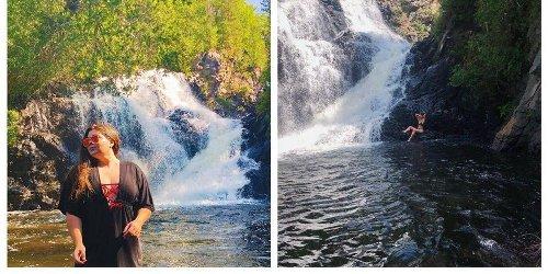 Tu peux te baigner dans un décor enchanteur au pied de cette chute à 1 h 45 de Montréal