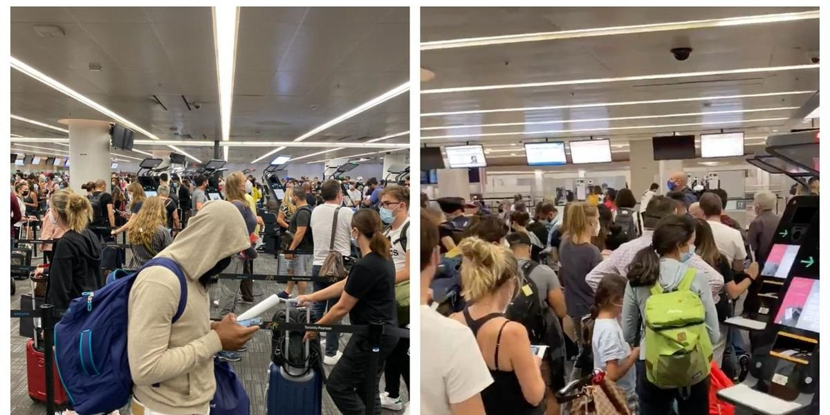 The Line-Ups At Pearson Were 'Absolute Chaos' This Week & Travellers Want Answers (PHOTOS)