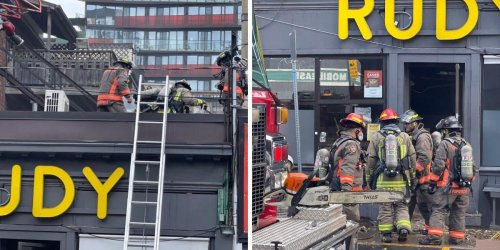 A Popular Burger Joint Went Up In Flames This Morning & Queen Street Got So Smoky (VIDEO)