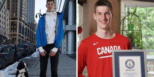 This Lofty Canadian Has Just Been Crowned The Tallest Teenager By Guinness World Records