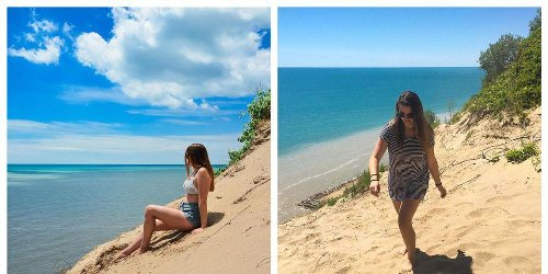 Ontario's Hidden Turquoise Beach Next To Colossal Dunes Is Like A Trip To Barbados